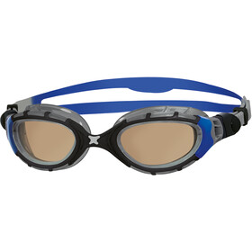 Zoggs Predator Flex Polarized Ultra Occhiali Maschera L, black/blue/copper polarized